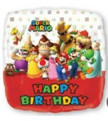 Balloon - Foil, Super Mario, Happy Birthday