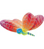 Balloon - Foil Super Shape, Multicolour Dragonfly