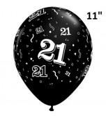 "Balloon - Latex 11"" Print 21 Black"