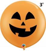 Balloon - Latex 3' Print Halloween Pumpkin