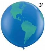 Balloon - Latex 3' Print Globe