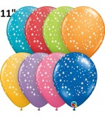 "Balloon - Latex, Print 11"" Stars Assorted"