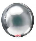 Balloon - Round Orbz, Silver