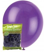 Balloons - 30 cm, Metallic Purple 25 pk
