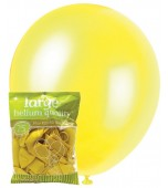 Balloons - 30 cm, Metallic Yellow 25 pk
