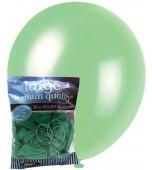 Balloons - 30 cm, Pearl Emerald Green 25 pk