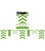 Flag Bunting - Dots & Chevrons, Lime Green