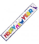 Banner - Happy New Year, Multicolour