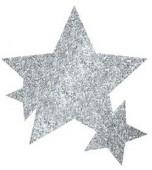Body Jewellery - Stars, Glitter Silver