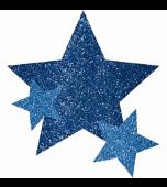 Body Jewellery - Stars, Glitter Blue