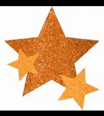 Body Jewellery - Stars, Glitter Orange