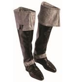 Boot Covers - Black, Dark Royalty
