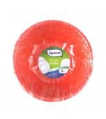 Bowl - Round Red, Salad 6 pk