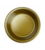 Bowls - Dessert, Round Gold 20 pk