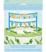 Cake Topper - 1st Birthday Safari, Blue