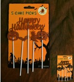 Cake Toppers - Halloween 5 pk Assorted