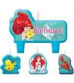 Candle Set - Happy Birthday, Ariel the Little Mermaid