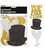 Cardboard Cutouts - Pop, Fizz, Clink 6 pk