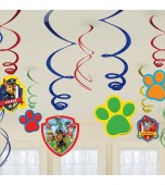 Hanging Decoration - Swirls, PAW Patrol 12 pk