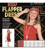 Child Costume - Karnival, Red Flapper Dress