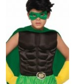 Child Muscle Chest - Superhero, Black