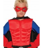 Child Muscle Chest - Superhero, Red