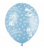 "Balloon - Latex, Print 11"" Christening Animals"