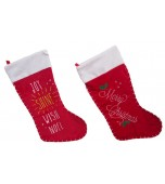 Christmas Stocking - Deluxe, Stitched & Embroidered Assorted