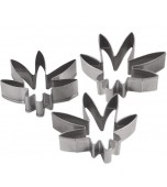 Cookie Cutters - Weed Leaf 3 pk