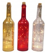 Crackle Bottle - LED, Assorted Colours