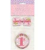 Cupcake Kit - 1st Birthday Safari, Pink 24 pk