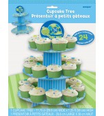 Cupcake Tree - 1st Birthday Turtle, Blue