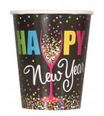 Cups - Confetti New Year 8 pk