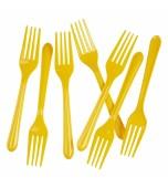 Cutlery - Forks, Aussie Yellow 20 pk