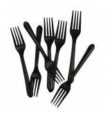 Cutlery - Forks, Black 20 pk