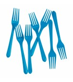 Cutlery - Forks, Electric Blue 20 pk