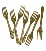 Cutlery - Forks, Gold 20 pk