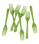 Cutlery - Forks, Lime Green 20 pk