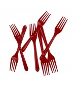 Cutlery - Forks, Red 20 pk