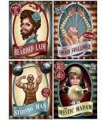 Cutouts - Vintage Circus Posters 4 pk