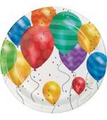 Dessert Plates - Balloon Blast 8 pk