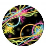 Dessert Plates - Glow Party 8 pk