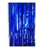 Door Curtain - Foil, Blue