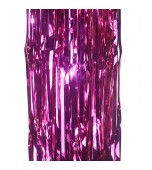 Door Curtain - Foil, Hot Pink