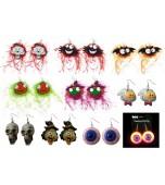 Earrings - Flashing, Halloween Assorted