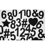 Felt Symbols & Numbers - Black 32 pk