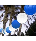 "Festoon Lantern Kit, 14"" White & Royal Blue"