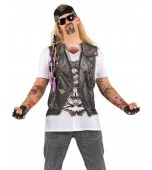 Adult Costume - Faux Real Shirt, Men's Biker Tattoo