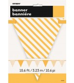 Flag Bunting - Pennant Dots & Stripes, Yellow