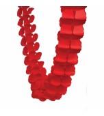 Garland - Honeycomb Paper, Red